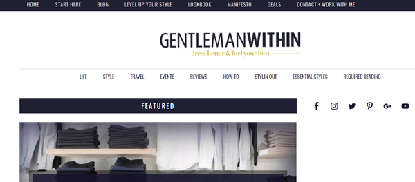 Best Men's Style Blogs Gentleman Within