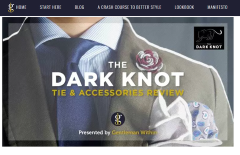 Gentleman Within Dark Knot Ties & Accessories Review