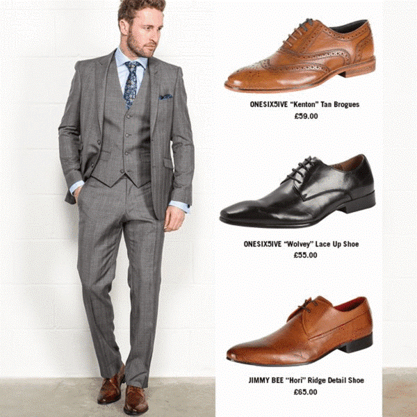 Light Grey Suit & Shoe Combinations