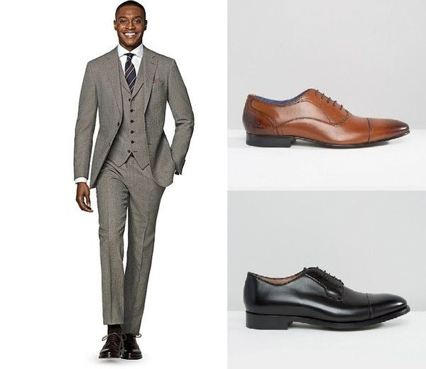 Medium Grey Suit & Shoe Combinations