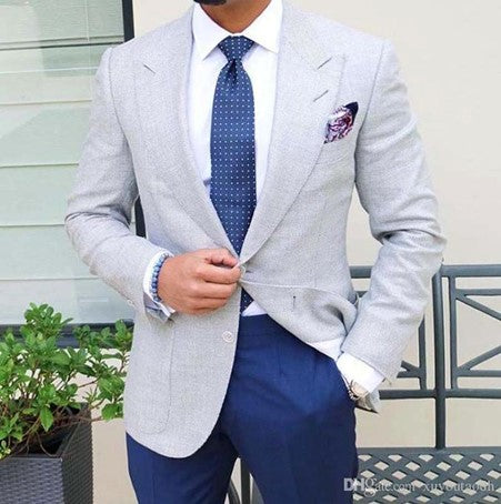Grey Suit Shirt & Tie