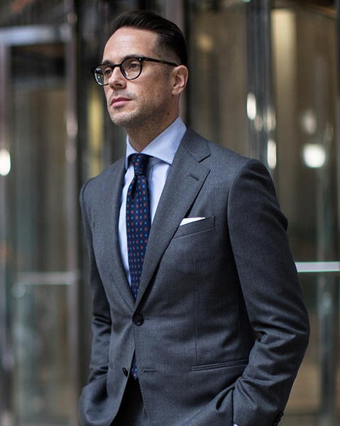 Blue Shirt & Tie With Charcoal Grey Suit