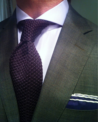 Popped Knitted Tie Knot