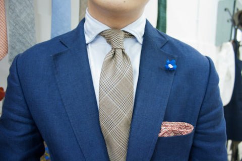 Lapel Flower with Business Suit