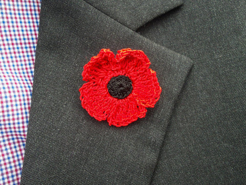 Poppy Lapel Flower