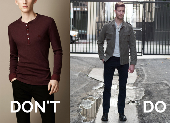 Men's Layering Henleys