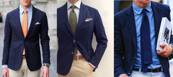 Navy Blazer Men's Layering