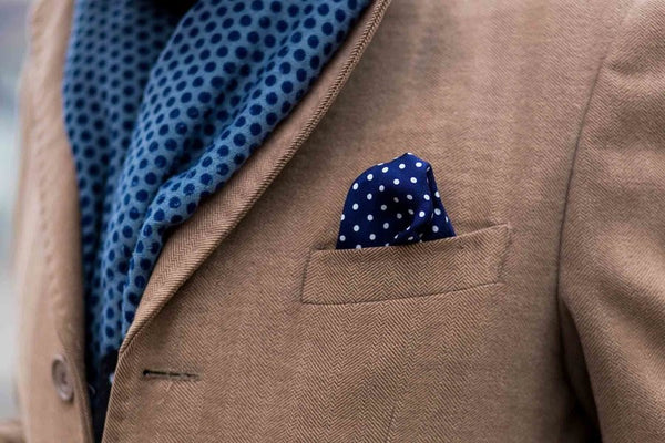 Silk Pocket Squares Layered Look