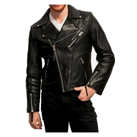 Leather Jacket White T-Shirt