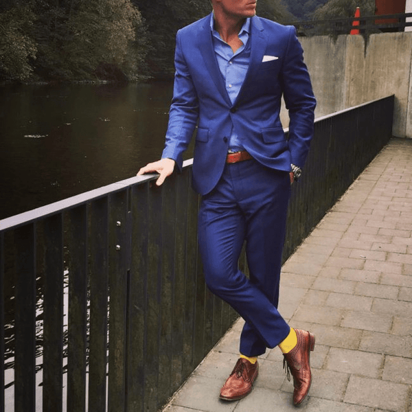 Blue Suits & Lighter Brown Shoes