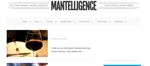 Best Men's Lifestyle Blogs Mantelligence