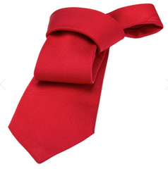 Red Silk Tie Wedding