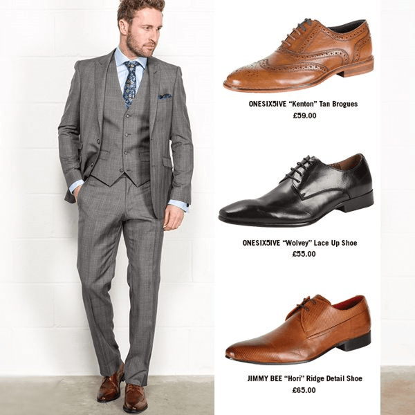 Light Grey Suit & Formal Shoes