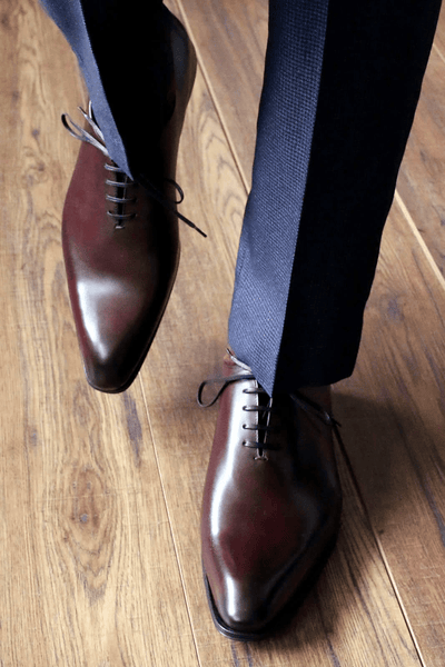 Wholecut Oxblood Shoes & Navy Suit