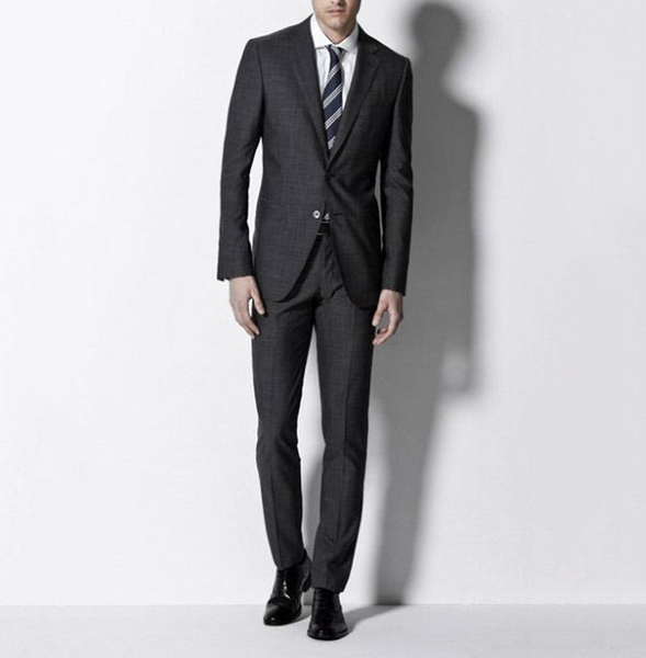 Charcoal Grey Suit & Black Shoes
