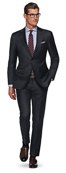 Charcoal Grey Suit & Brown Shoes