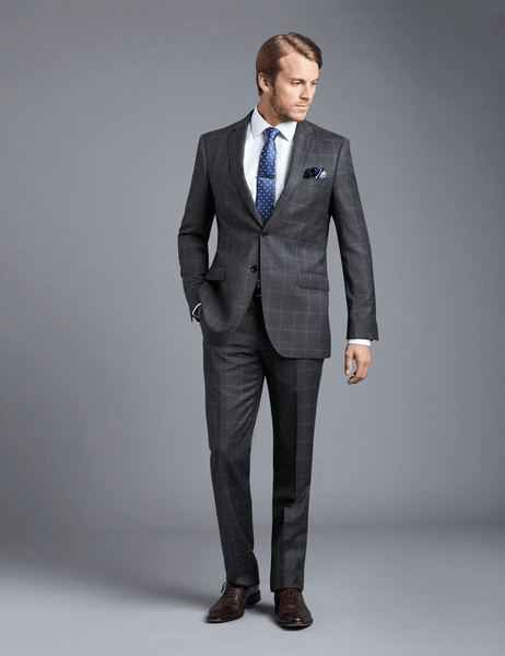 Charcoal Grey Suit & Dark Brown Shoes