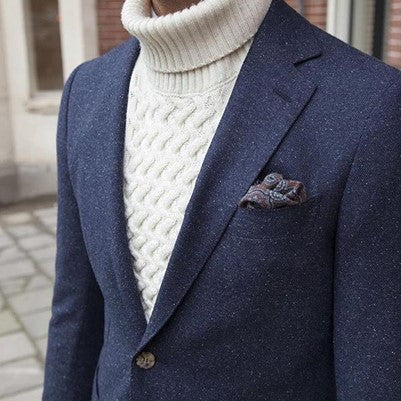 Cable Knit Sweaters Men's Winter Smart Casual