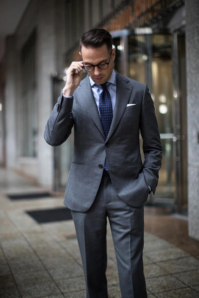 Charcoal Grey Suit Men's Minimal Wardrobe