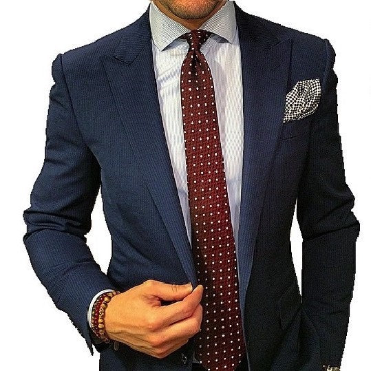 Burgundy Polka Dot Tie Men's Minimal Wardrobe