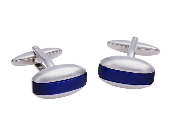 Blue Stoned Cufflinks Men's Minimal Wardrobe