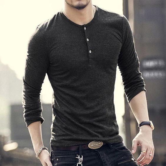 Henley Shirts Men's Minimal Wardrobe