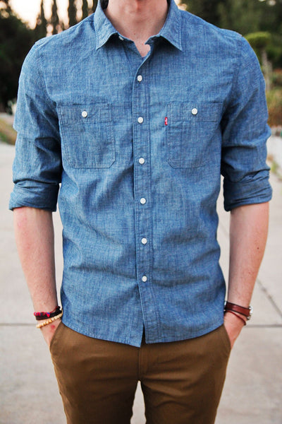 Chambray Shirt Men's Minimal Wardrobe