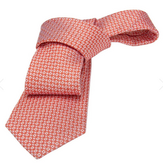 Coral Foulard Silk Tie Weddings