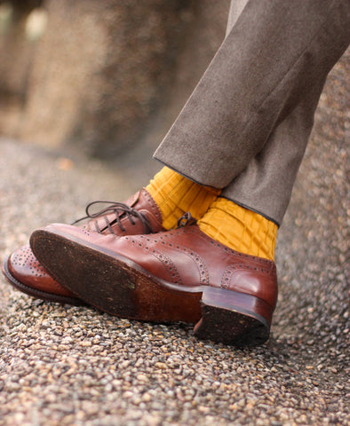 Mustard Yellow Socks