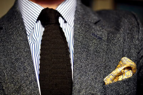 Neutral Color Scheme for Tie and Pocket Square