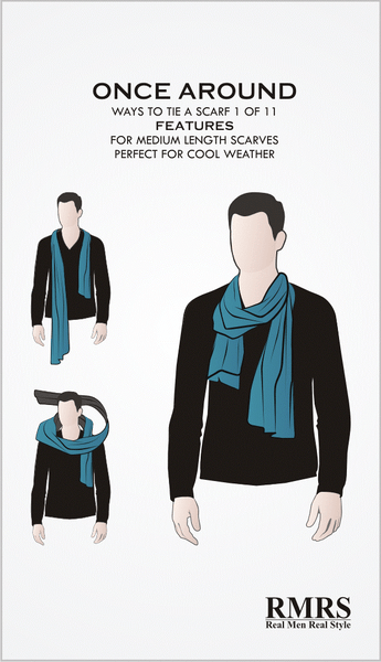 Once Around Scarf Infographic
