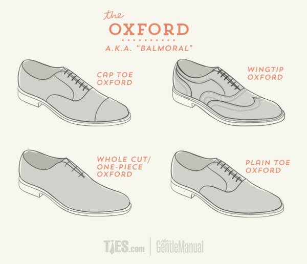 Oxford Shoes Infographic