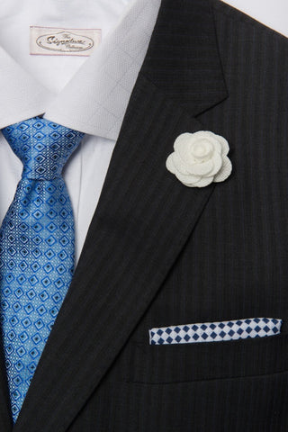 Linen Checkered Pocket Square