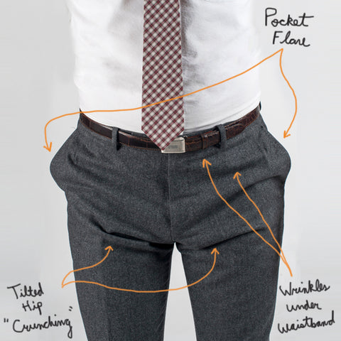 Suit Pants Pockets Flaring