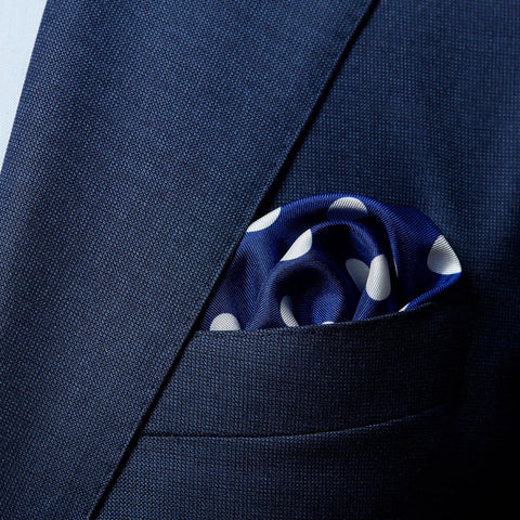 Improve Your Style with a Polka Dot Pocket Square