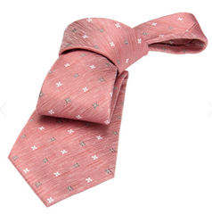 Coral Silk Tie Wedding