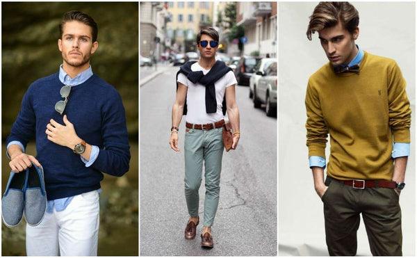 Men's Preppy Looks with sweaters
