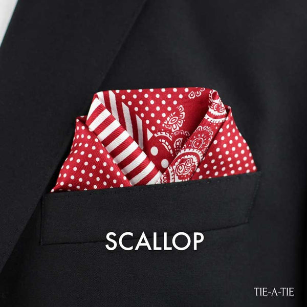 Scallop Pocket Square Fold