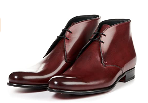 Newman Calfskin Leather Chukka Boots by Paul Evans
