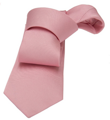 Solid Pink Silk Tie Seaside Wedding