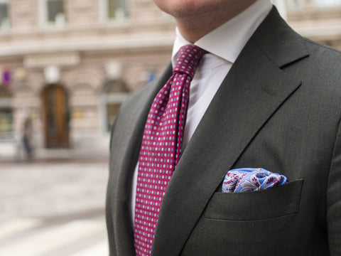 Silk Pocket Square Summer Months