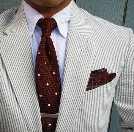 Seersucker Suit Summer Wedding