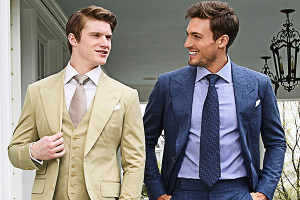 Men's Summer Wedding Cotton Suits