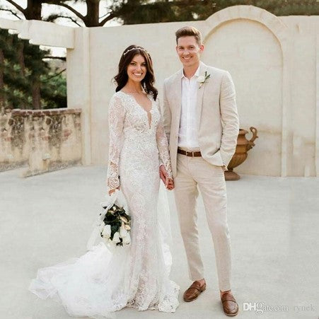 Summer Wedding Linen Suit