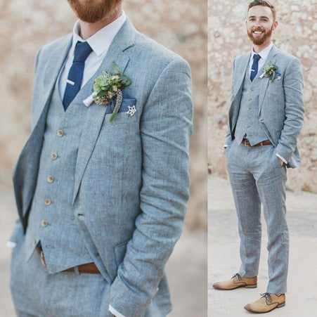 Men's Summer Wedding Three Piece Suit