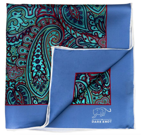 Best Pocket Squares, Green Paisley Silk Pocket Square