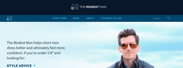 Best Men's Style Blogs The Modest Man
