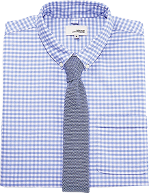 Gingham Shirt with Solid Tie
