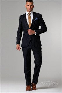 Well Fitted Navy Suit