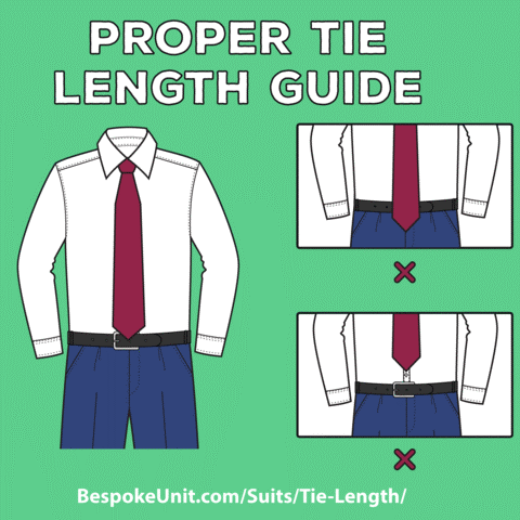What Men Shouldn't Wear - Incorrect Tie Length